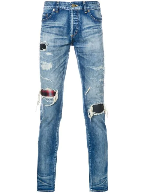 Hl Heddie Lovu Distressed Skinny Jeans In Blue