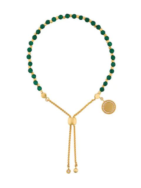 Astley Clarke Cosmos Kula Adjustable Bracelet In 18K Gold-Plated Sterling Silver In Green