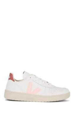 Veja V-10 Leather Sneakers In White