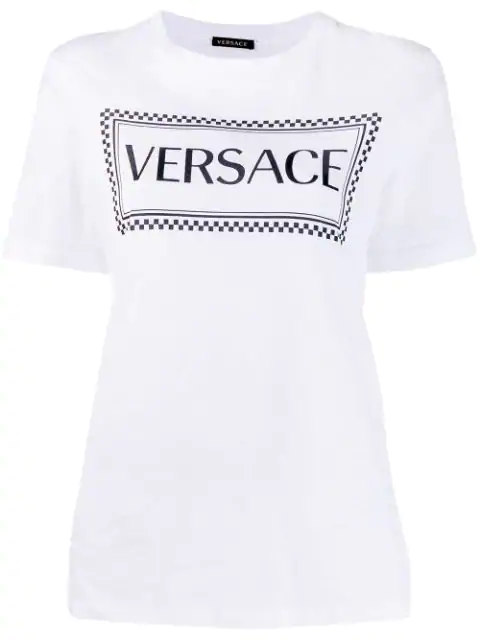 Versace Sustainable 90s Vintage Logo T-shirt In 2048 White