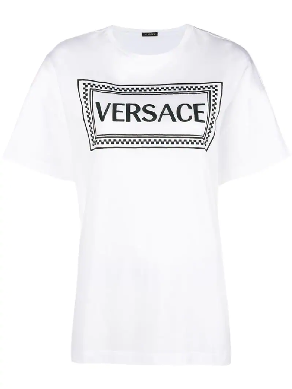 4cfc237c Versace Sustainable 90S Vintage Logo T-Shirt In White   ModeSens