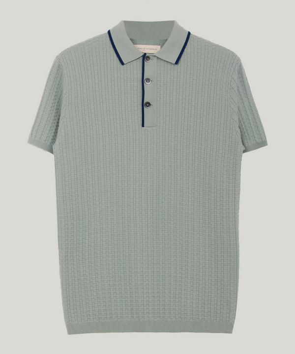 4e374ce2bbe745 King & Tuckfield Textured Merino Wool Polo-Shirt | ModeSens