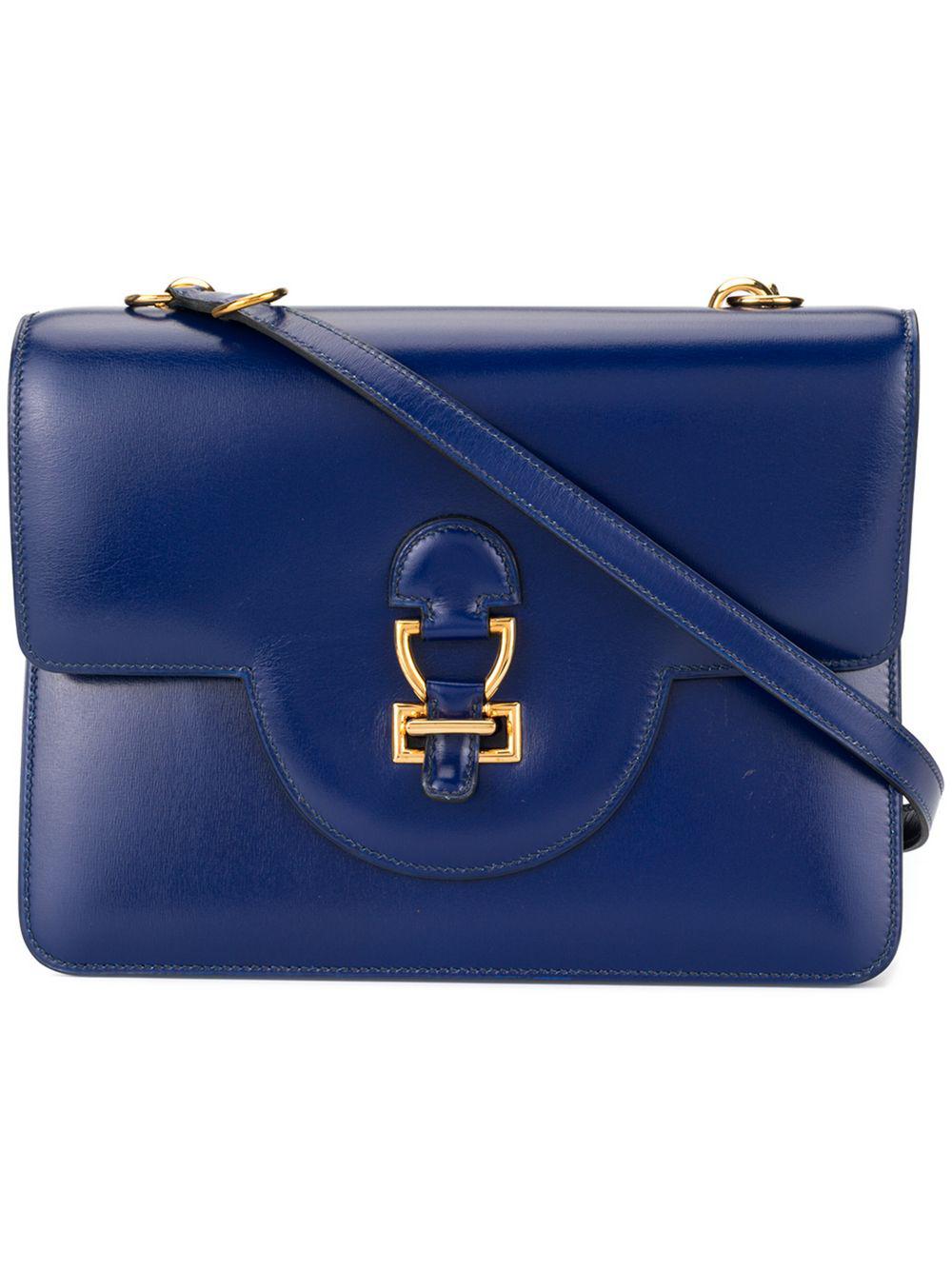 bcfc29d66c59 Hermes HermÈS Pre-Owned Sandrine Shoulder Bag - Farfetch In Blue ...