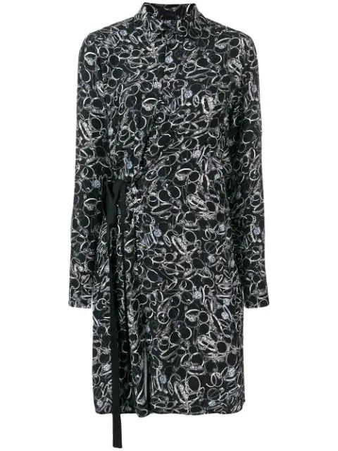 A.F.Vandevorst Long-Sleeve Wrap Dress - Black
