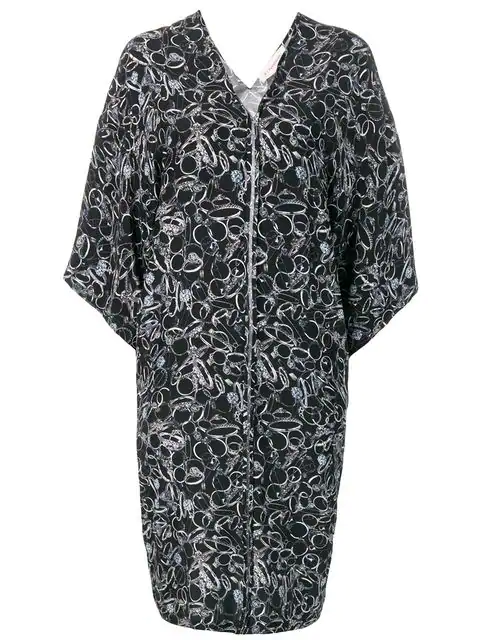 A.F.Vandevorst Graphic Print Zipped Dress - Black