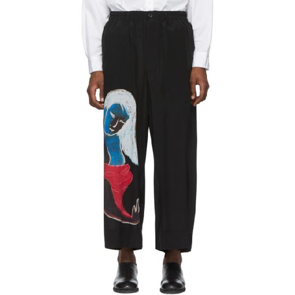 Yohji Yamamoto Asakura Wide Leg Trousers In Black