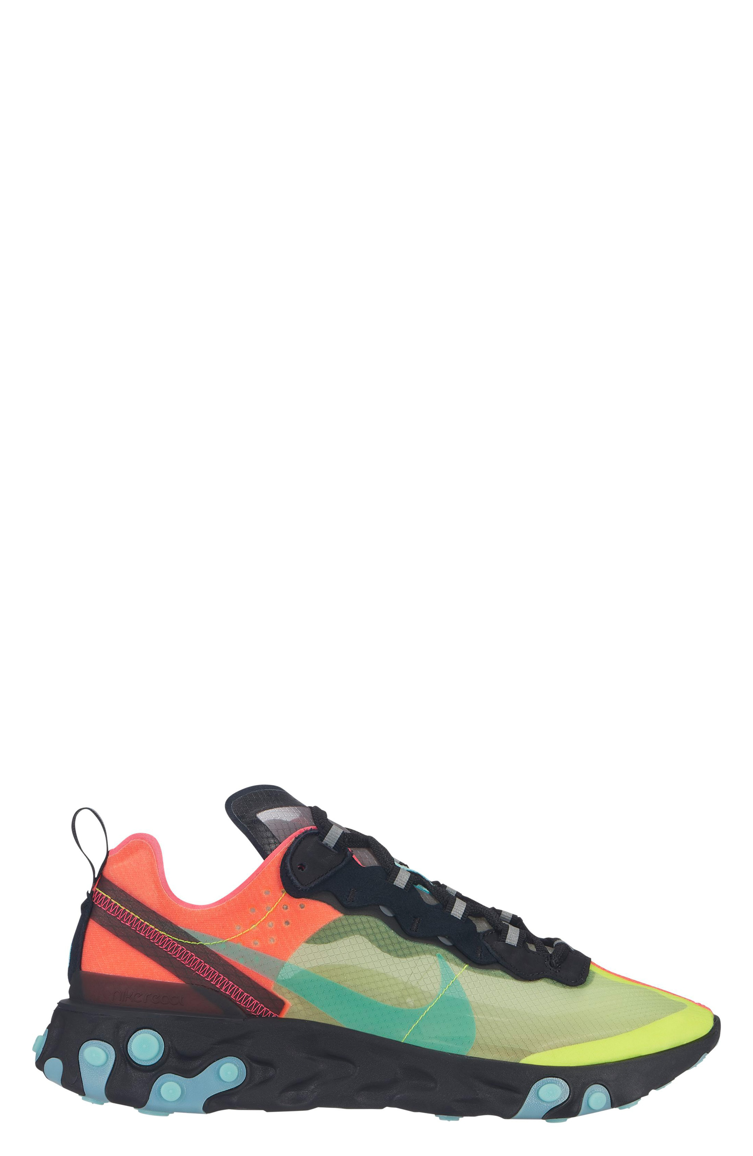 ee63a44af74c Nike React Element 87 Sneaker In Volt  Aura Green