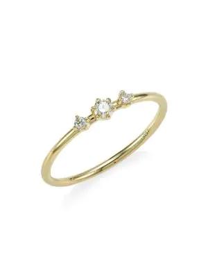 Ila Women's Core Sancia Diamond & 14k Yellow Gold Ring