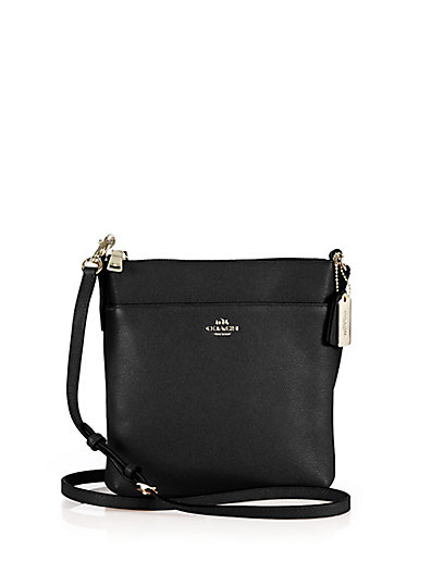 Coach Messenger Crossbody - Women's In Black/Light Gold