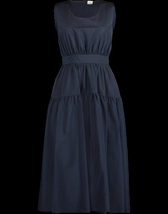 Aspesi Short Sleeve Shirt Dress In Navy