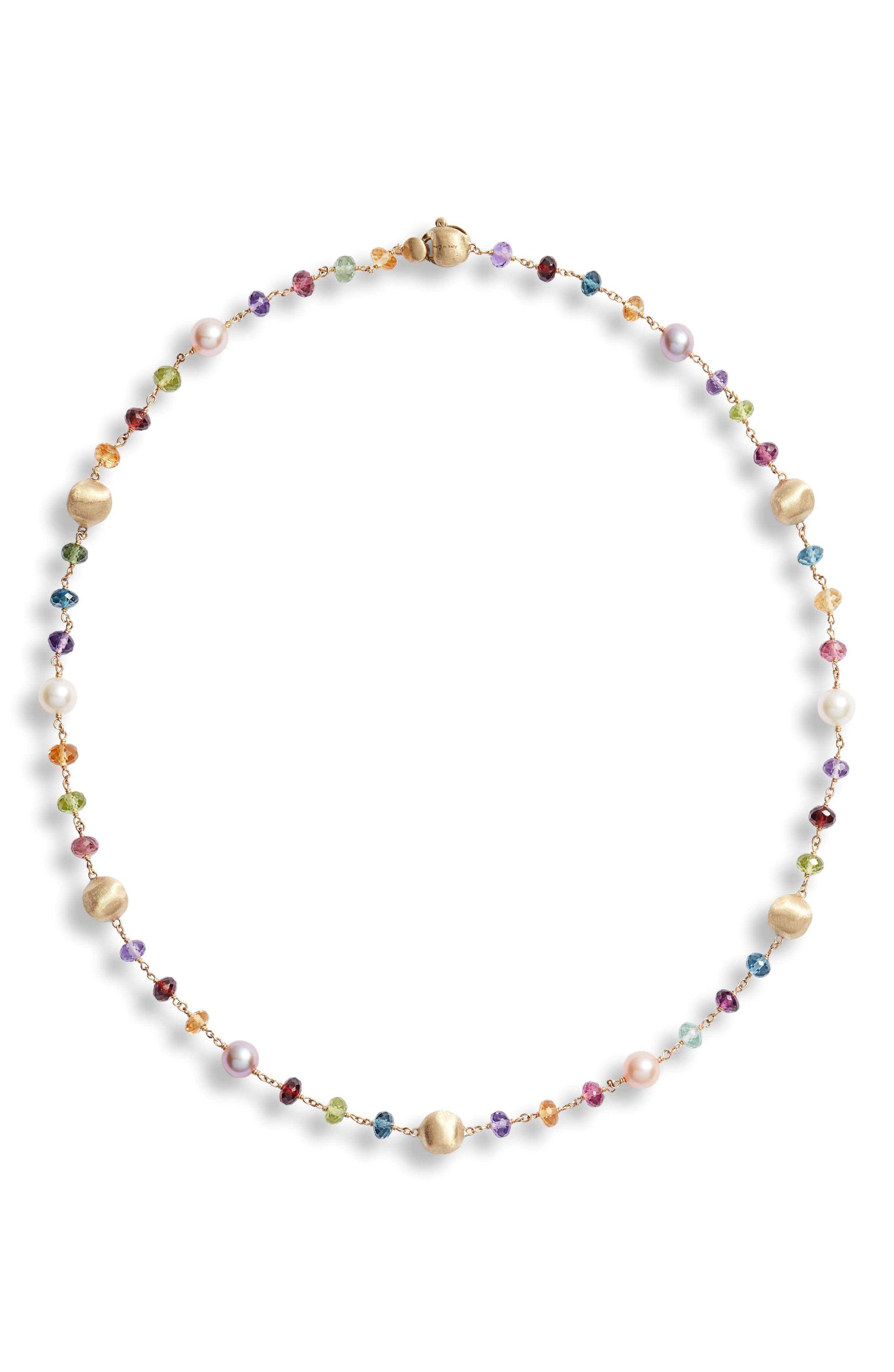 3fae90eb2cc345 Marco Bicego Africa Semiprecious Stone & Pearl Necklace In Yellow Gold/  Multi