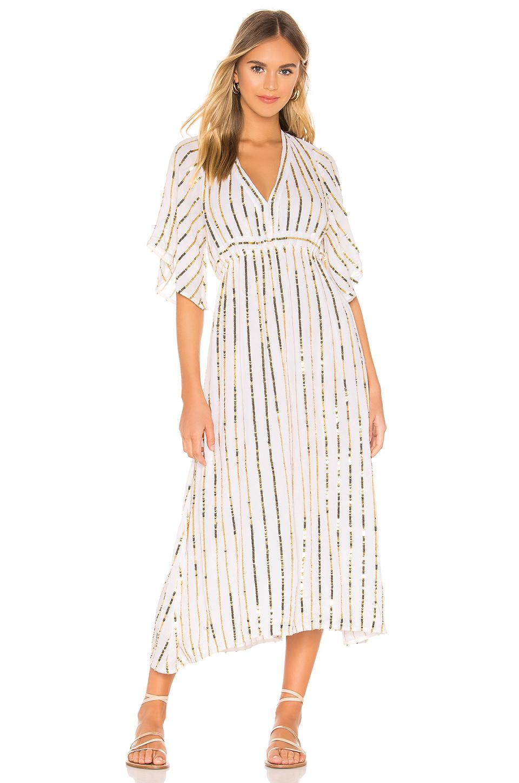 296bd2f2ff0 Sundress Carolina Kleid In White. In Off White   Gold