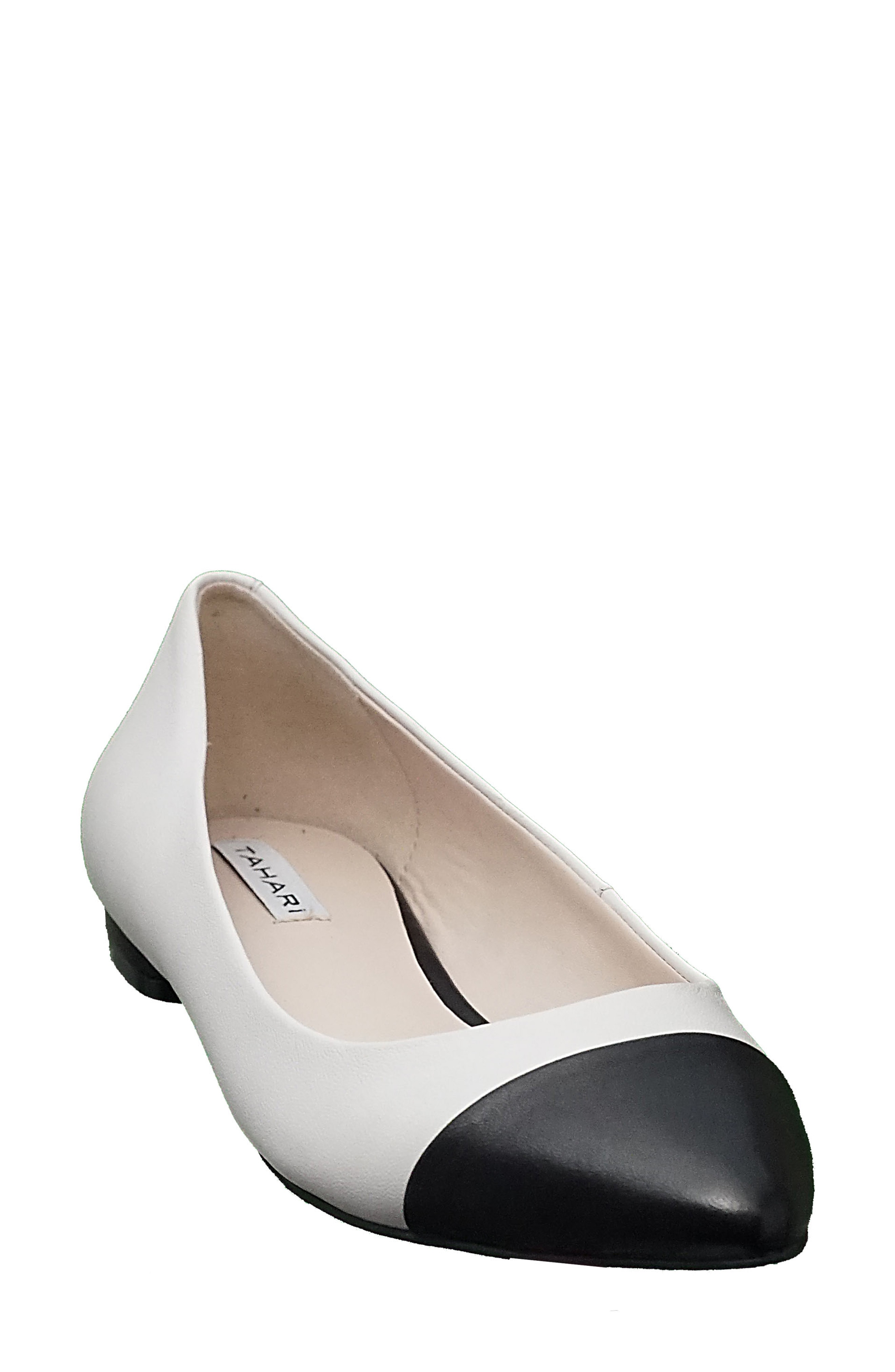 29d16723aa4 A glossy pointed toe caps the style of a go-to skimmer flat made with a  lightly cushioned footbed. Style Name T Tahari Okalani Cap Toe Skimmer Flat  (Women).