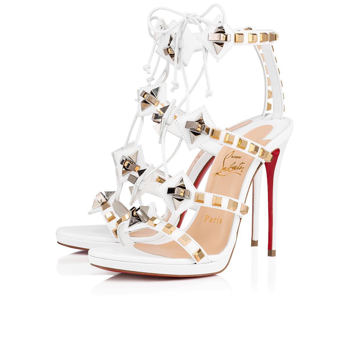 48931be06ea Christian Louboutin Multiplaticool Studded Gladiator Sandal In Version Snow