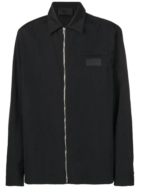 ee8b8d7da0bb0 Prada Full-Zipped Shirt Jacket - Black