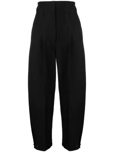 Givenchy Wide Leg High Waisted Trousers - Black
