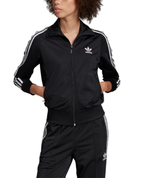 Adidas Originals Firebird Recycled Tricot Track Jacket In Black