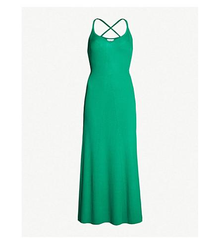 ec3d0bdf859 Sandro Stretch-Knit Midi Dress In Green