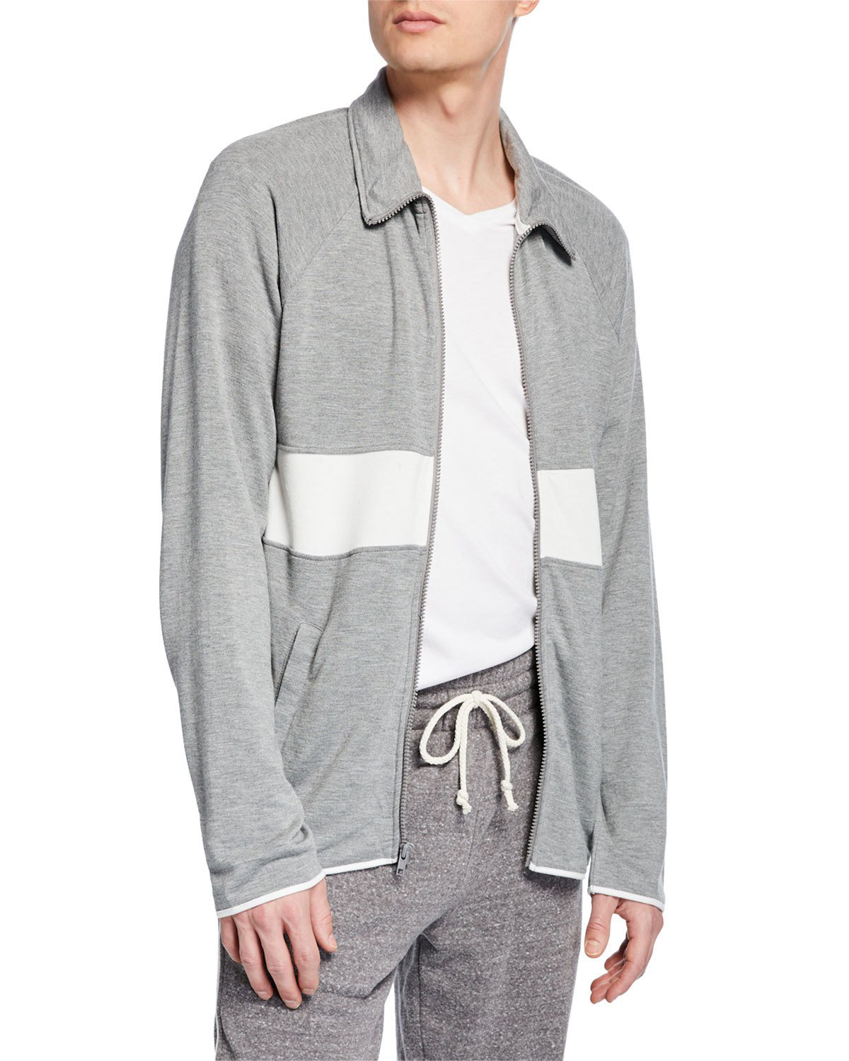 5ce25bfddce0d5 Threads For Thought Soft Long-Sleeve Track Jacket In Gray