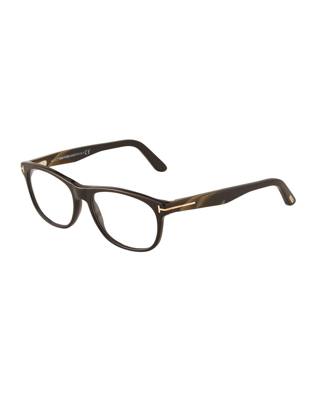eabdf1ca43348 Tom Ford Round Acetate Optical Glasses In Black