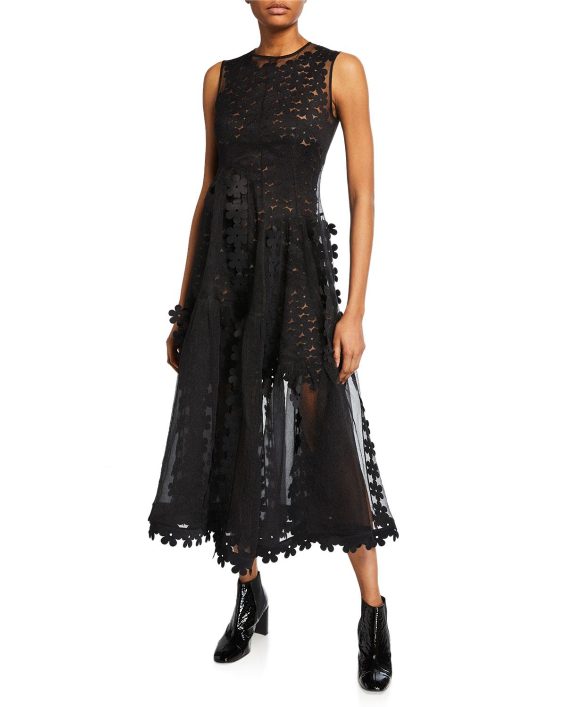 2e024bd33e Paskal Sleeveless Double-Layered Cascade Dress In Black   ModeSens