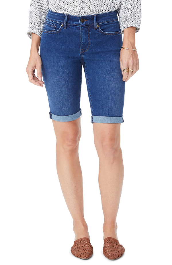 skate shoes affordable price outlet store sale Nydj Petite Braille Twill Roll Cuff Shorts In Cooper | ModeSens