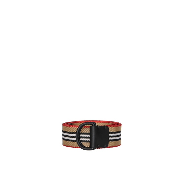 Burberry Icon Stripe Double D-Ring Belt