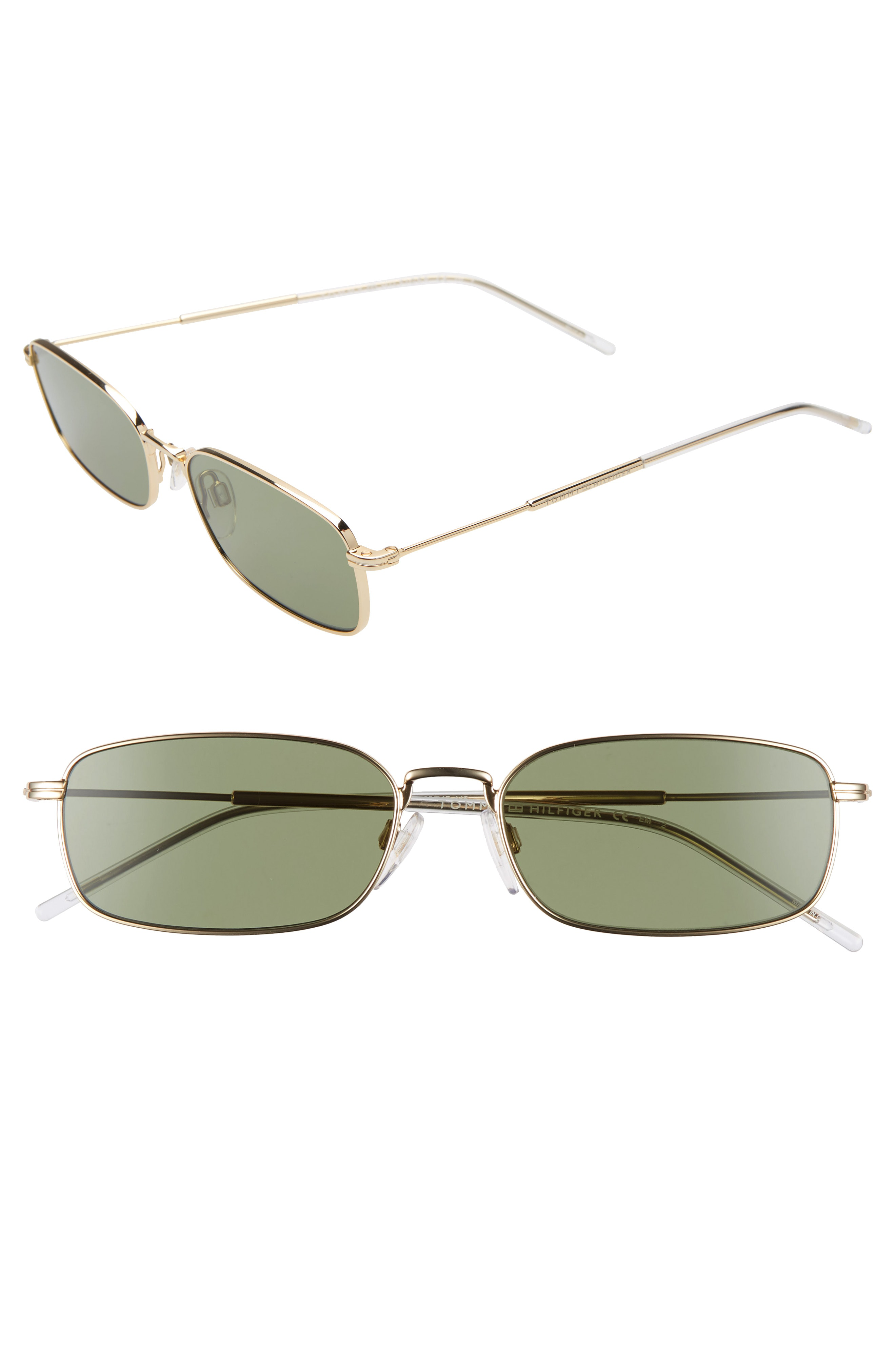 8a472f6c092f Tommy Hilfiger 55Mm Rectangle Sunglasses - Gold  Green