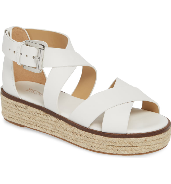 19fff10d4ed Women's Darby Leather Espadrille Sandals in Optic White Vachetta Leather