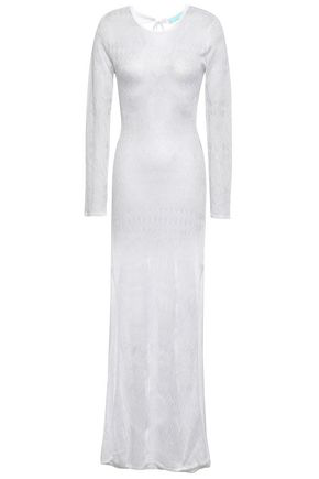 Melissa Odabash Open-back Pointelle-knit Coverup In White