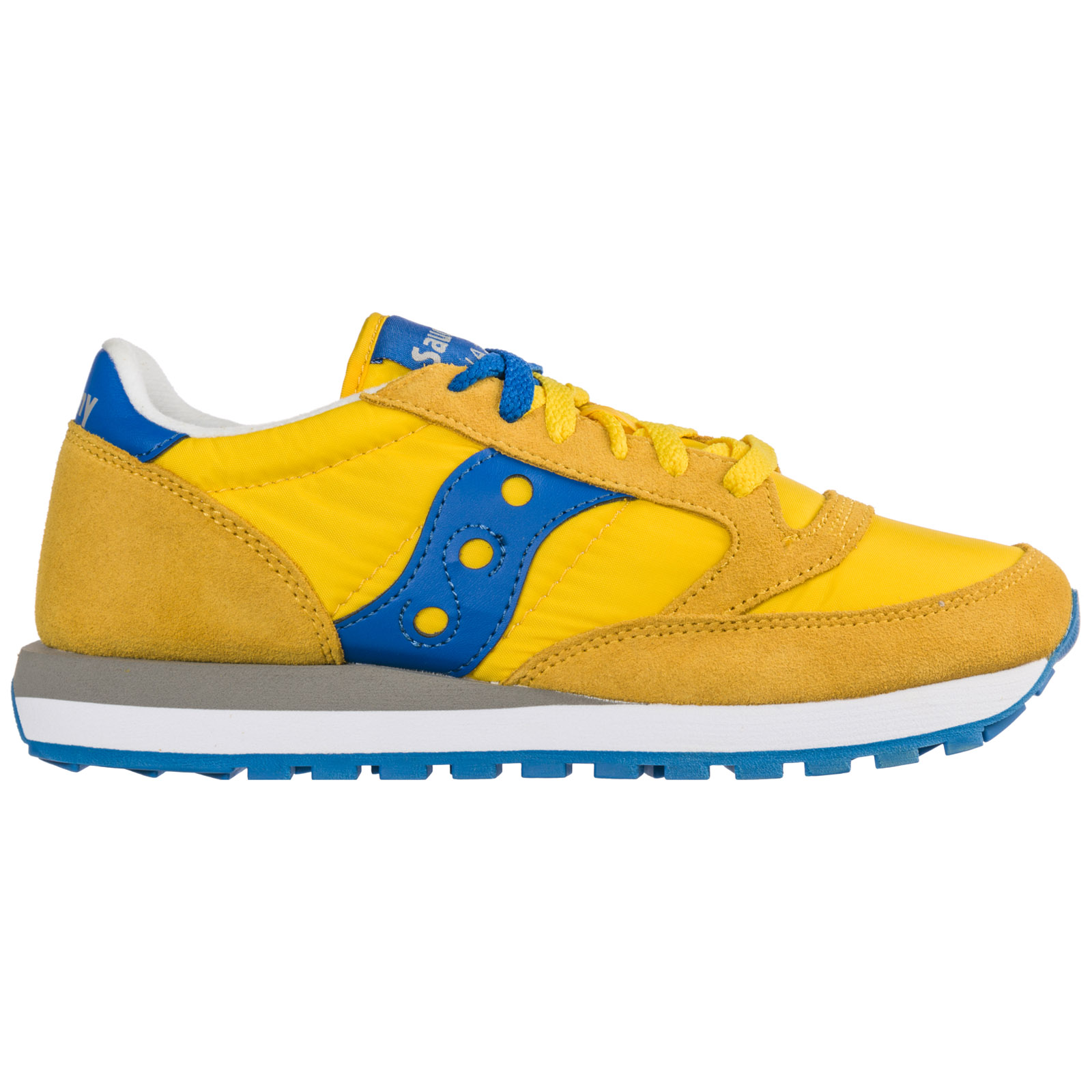 Saucony Men's Shoes Suede Trainers Sneakers Jazz In Giallo
