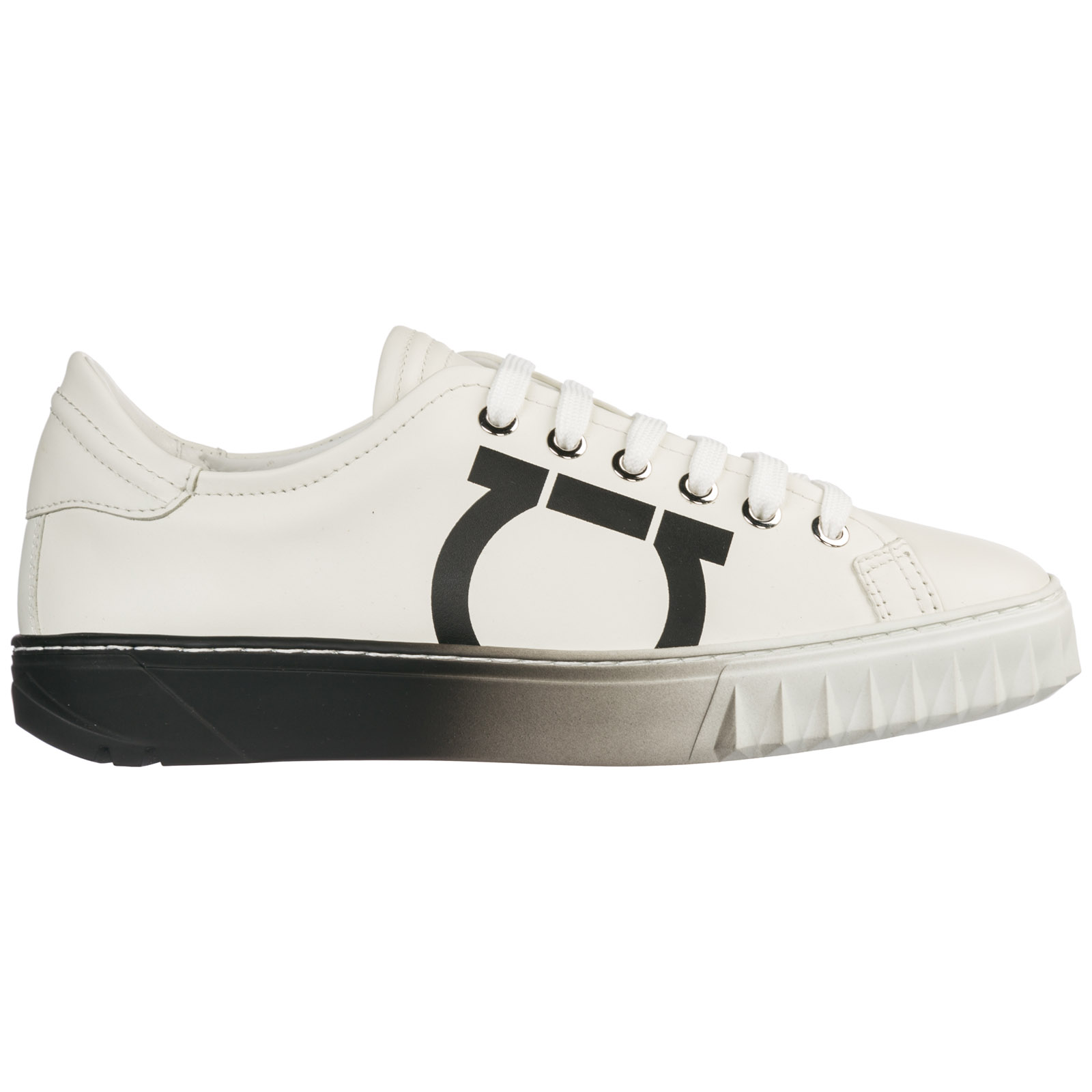 1dfff7bb002c Salvatore Ferragamo Women s Shoes Leather Trainers Sneakers Gancini In White
