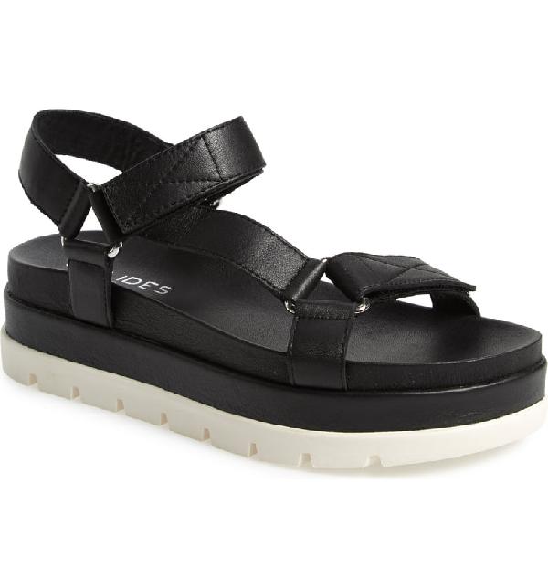 cfa66ab3350 Jslides Blakely Platform Sandal In Black Leather | ModeSens