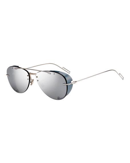 5c90c1b2c Dior Men's Chroma 1 Rimless Mirrored Aviator Sunglasses In Gray ...