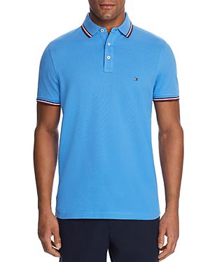 3c48a6ef Tommy Hilfiger Tipped Slim Fit Polo Shirt In Regatta | ModeSens