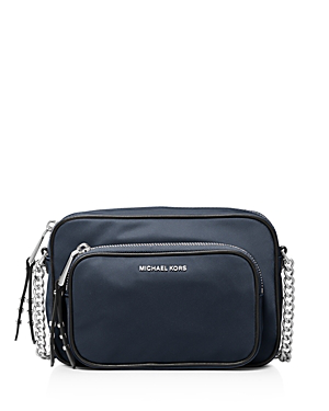 917ab251ffbf7c Michael Michael Kors Leila Large Nylon Camera Crossbody In Admiral  Navy/Silver