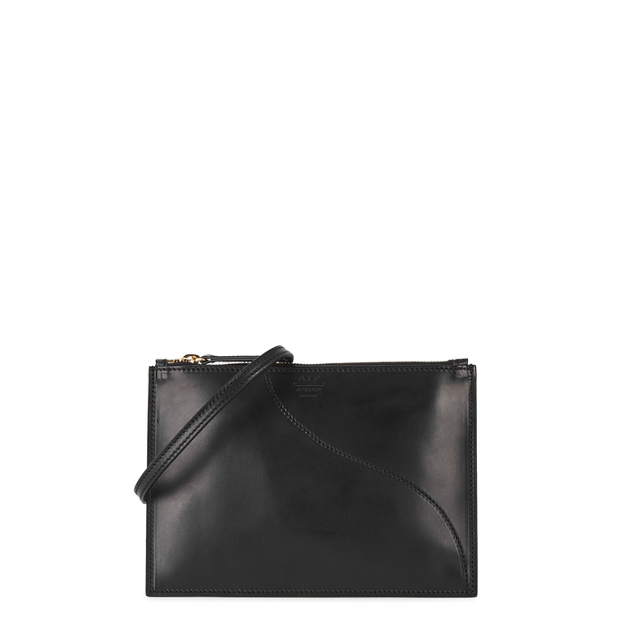 Atp Atelier Lucca Leather Cross-Body Bag In Black
