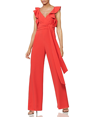 ddab50a9506 Halston Heritage Flounce-Sleeve Jumpsuit - 100% Exclusive In Rose ...