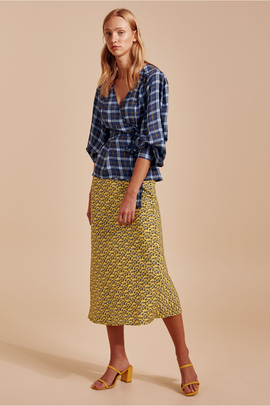 C/meo Collective Define Top In Blue Check