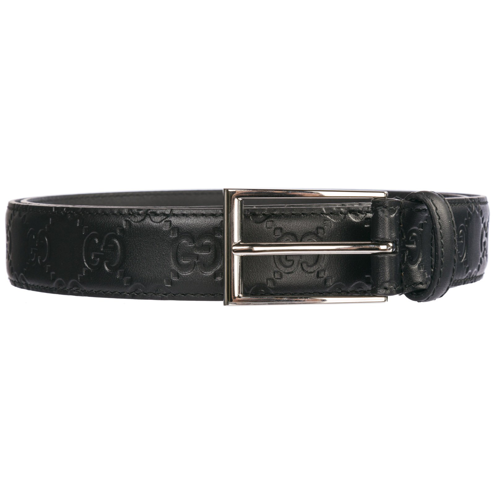 f0be98f8563 Gucci Genuine Leather Belt In Nero