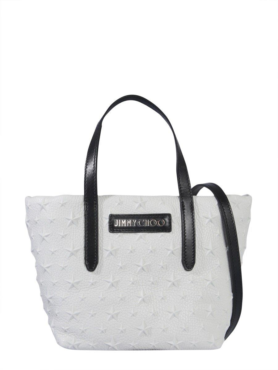 64ffaff275d Jimmy Choo Mini Sara Tote Bag In White | ModeSens