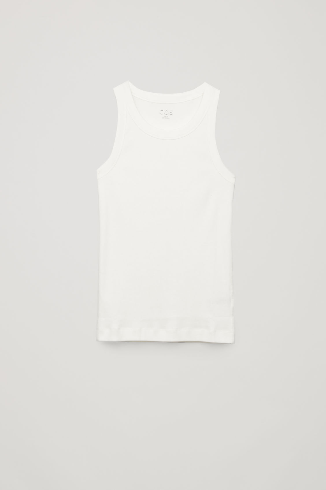 Cos Ribbed Vest Top In White