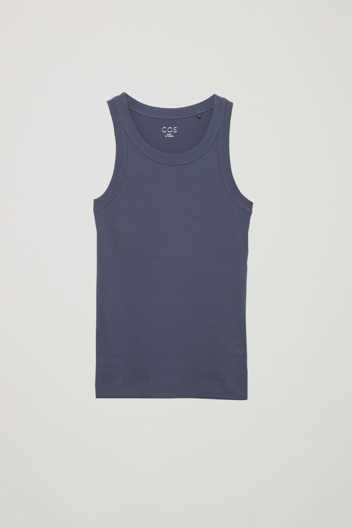 Cos Ribbed Vest Top In Blue