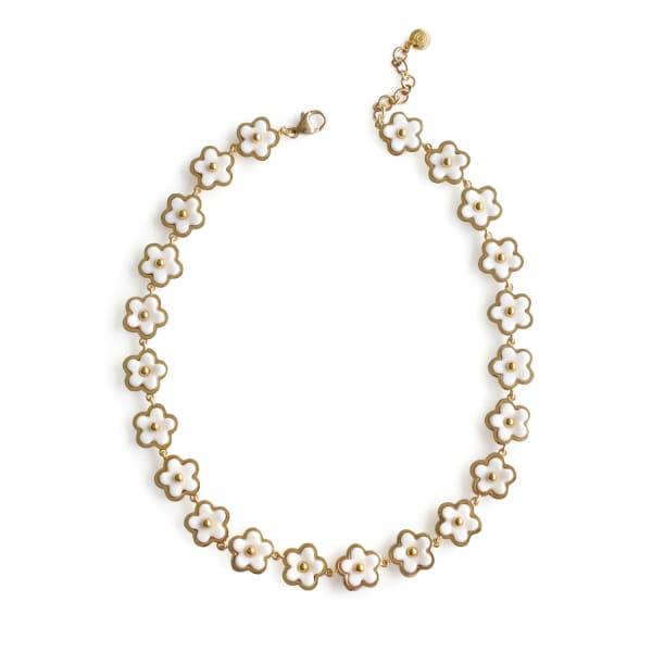 Poporcelain Mini Porcelain Daisy Cluster Necklace