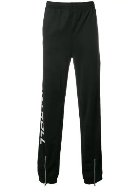 Kappa Logo Print Track Pants In Black