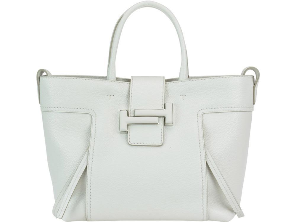 d7243c3d12 Tod's Double T Medium Tote Bag In White | ModeSens