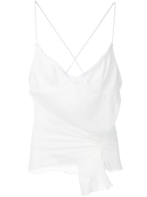 Jacquemus Asymmetric Gathered Vest In White
