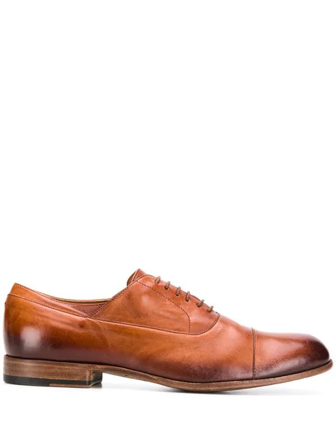 Pantanetti Classic Lace Up Shoes In Brown