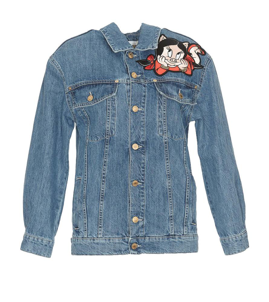 18e49a1eb7 Moschino Looney Tunes Chinese New Year Denim Jacket In Blue