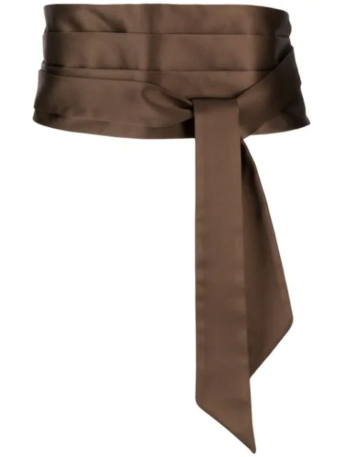 Brunello Cucinelli Tied Waist Belt In Brown